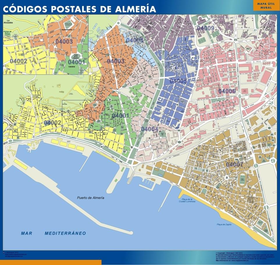 mapa magnetico codigos postales almeria