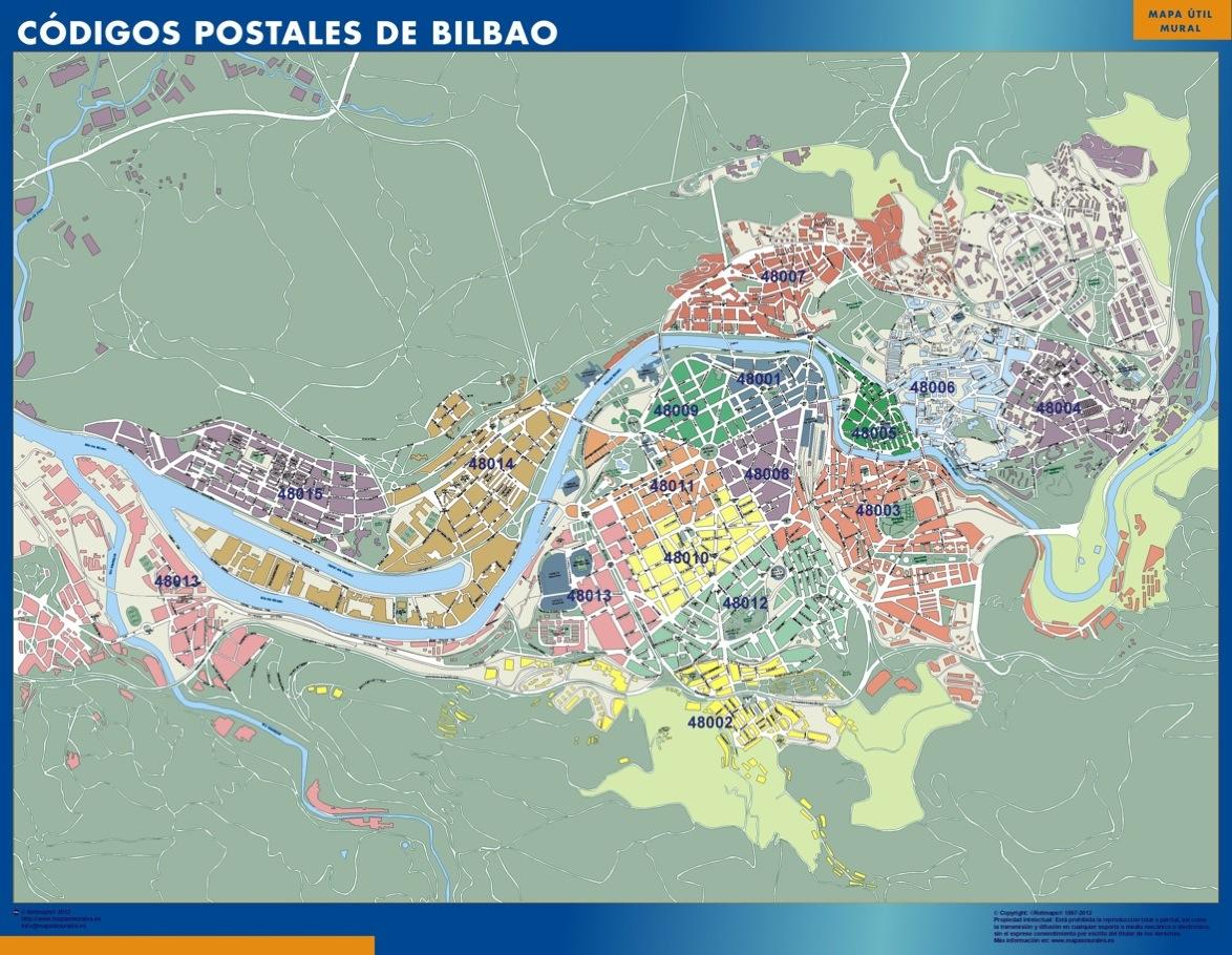 mapa magnetico codigos postales bilbao
