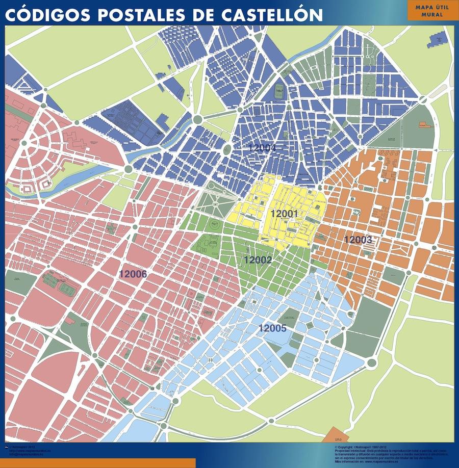 mapa magnetico codigos postales castellon
