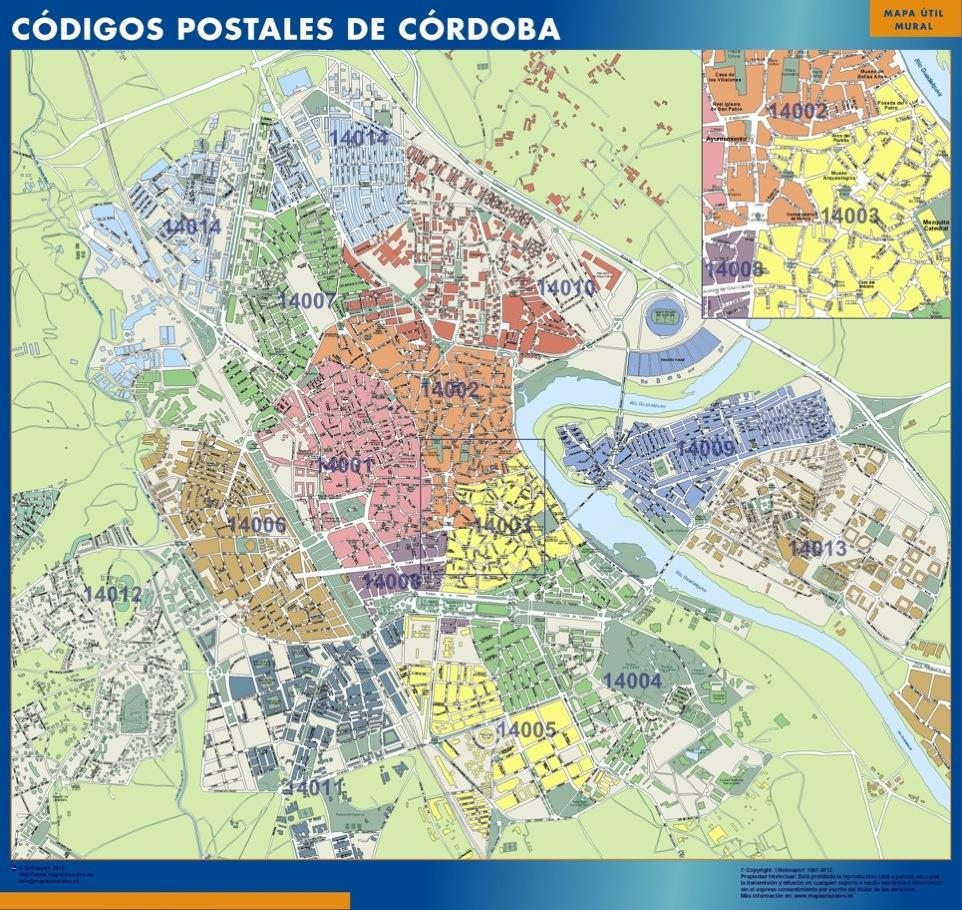 mapa magnetico codigos postales cordoba