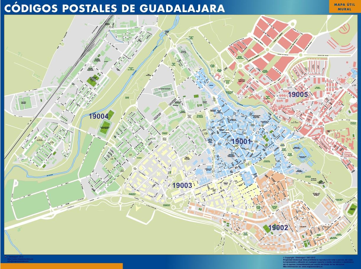 mapa magnetico codigos postales guadalajara