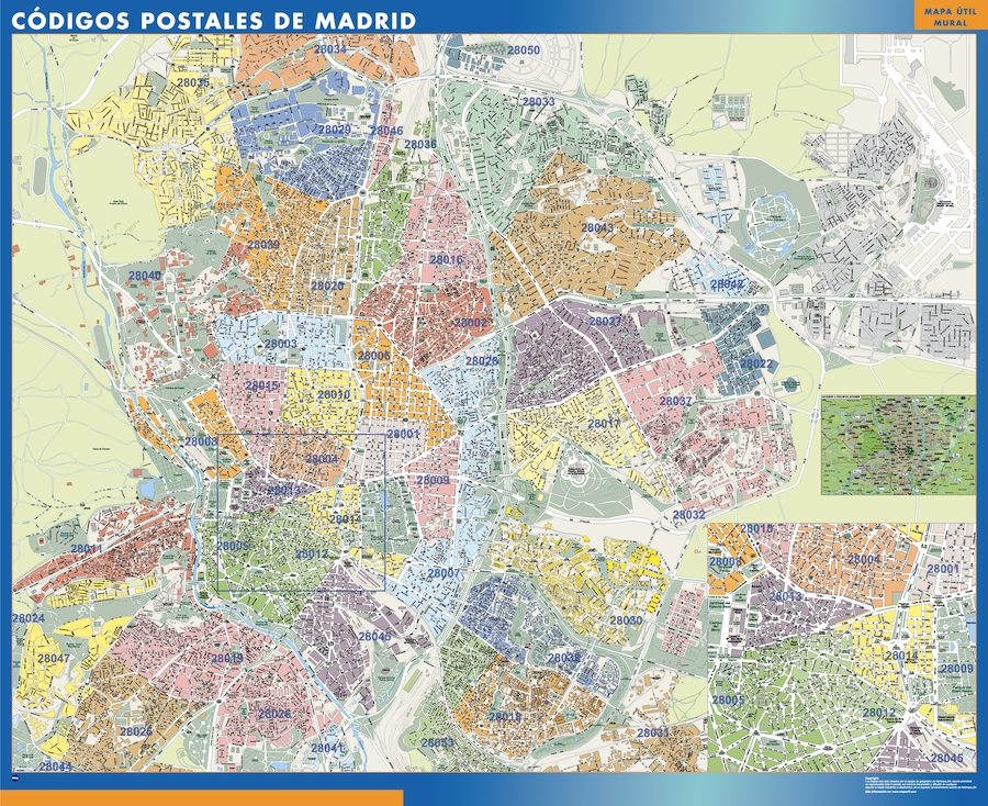 mapa magnetico codigos postales madrid