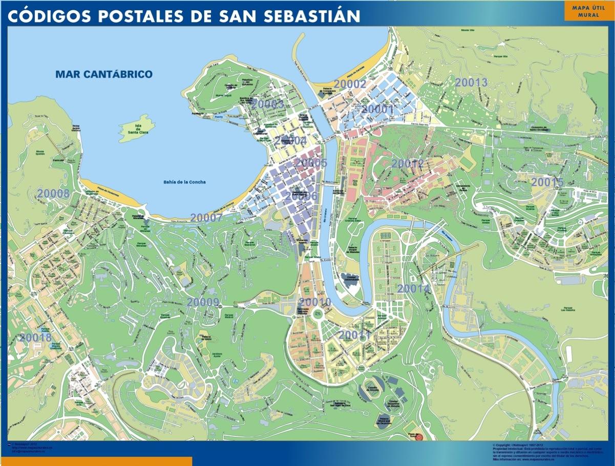 mapa magnetico codigos postales san sebastian