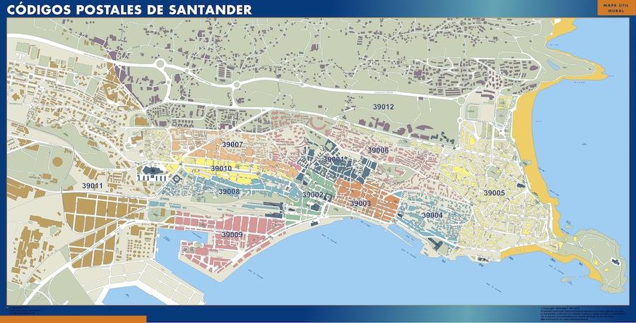 mapa magnetico codigos postales santander