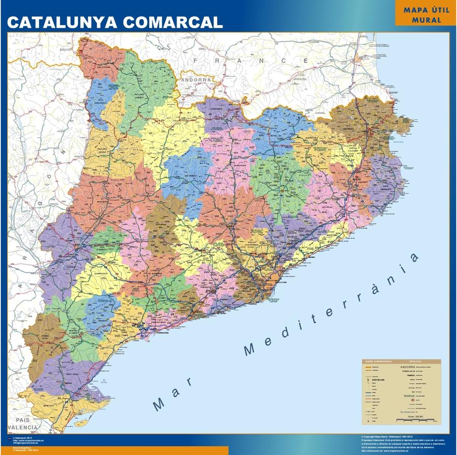 Mapa Magnético Cataluna Comarcal