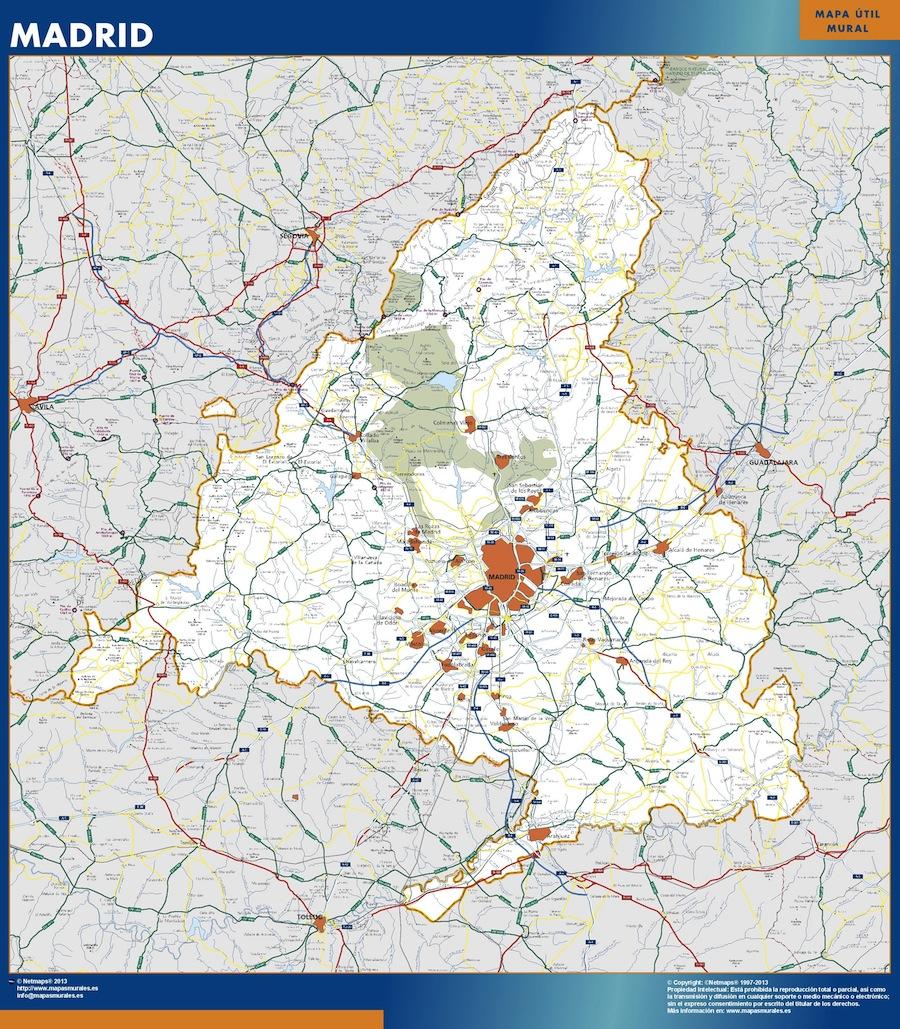 Mapa Magnetico Comunidad Madrid
