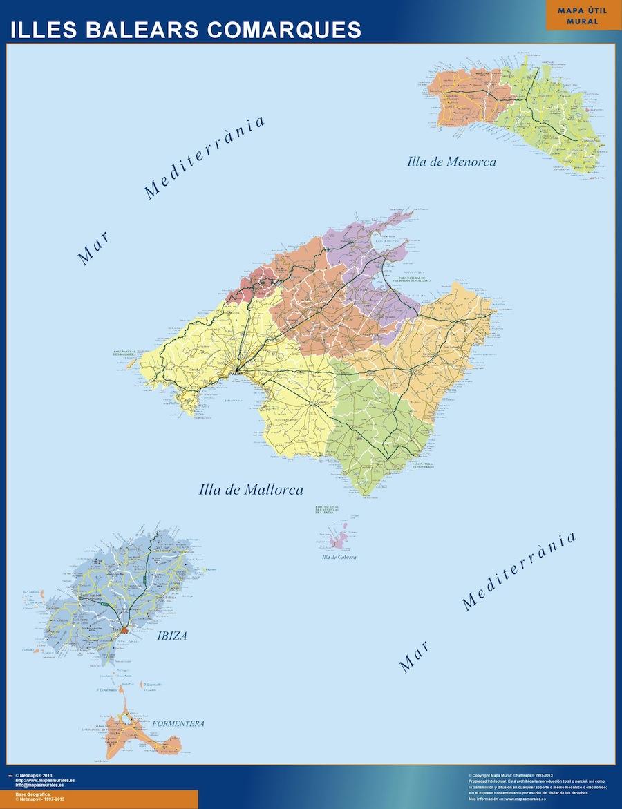 Mapa Magnetico Islas Baleares Comarcal