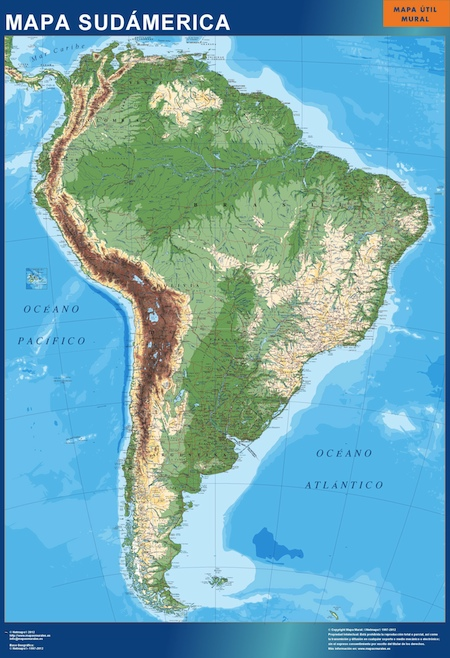 Mapa Sudamerica magnetico
