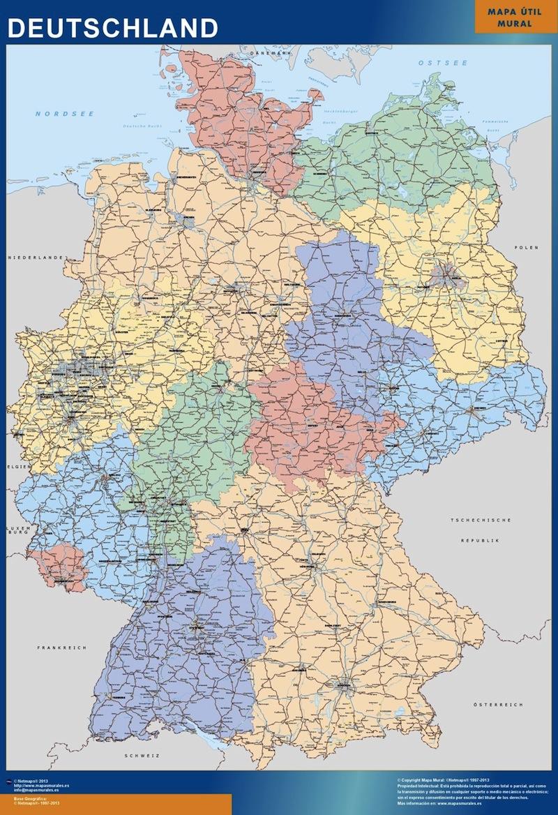 mapa magnetico alemania
