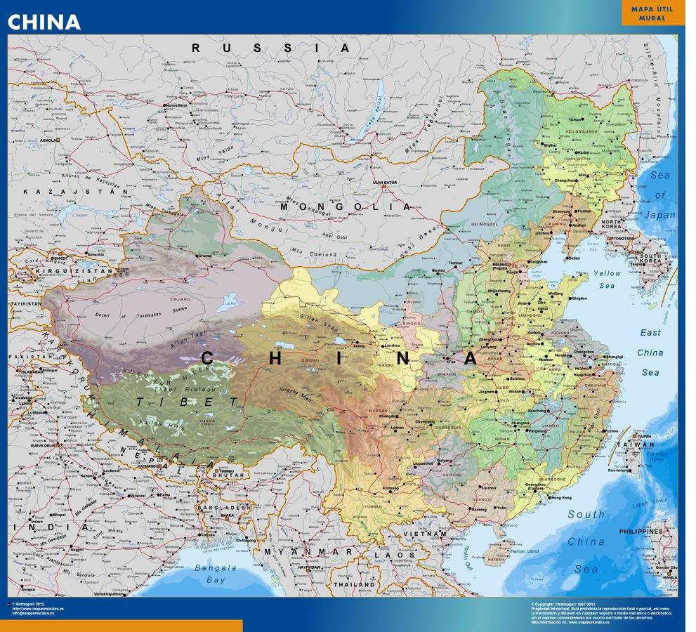 mapa magnético china