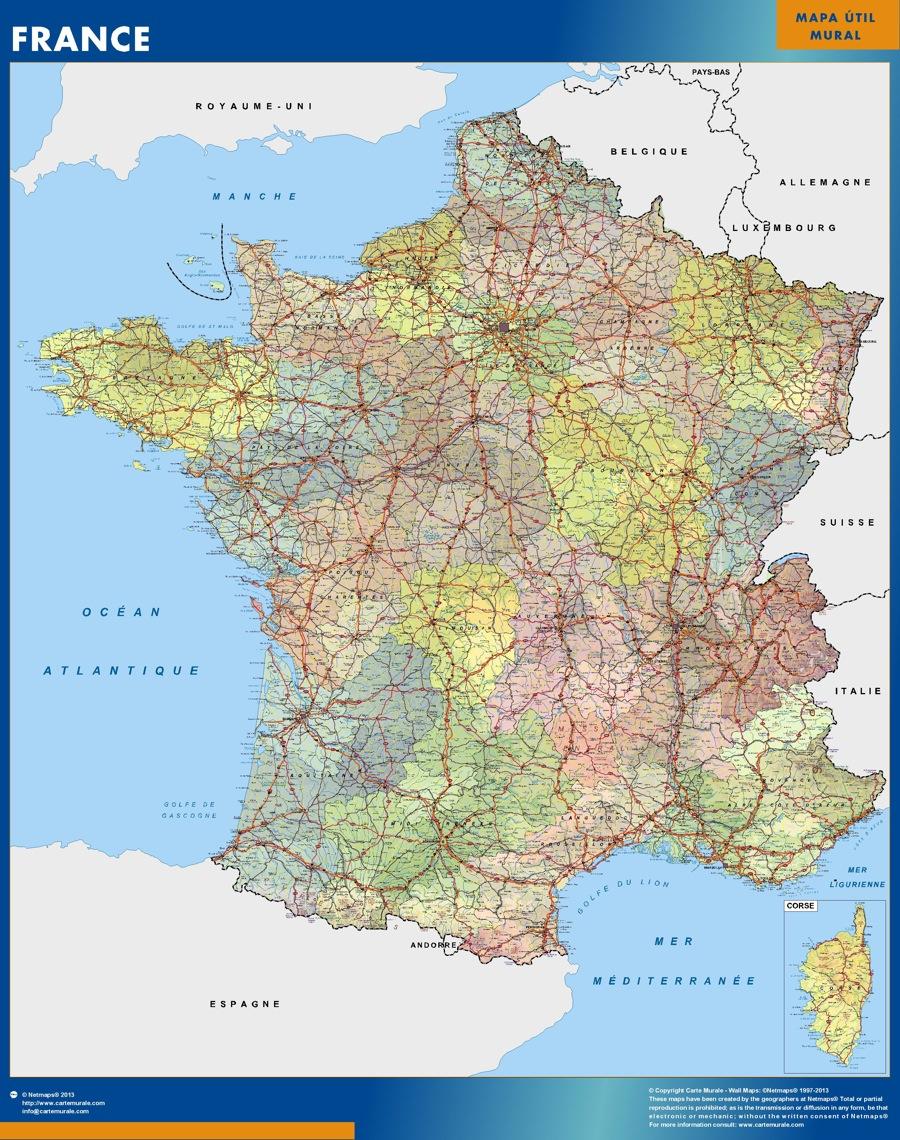 mapa magnético francia