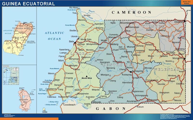 mapa magnético guinea ecuatorial