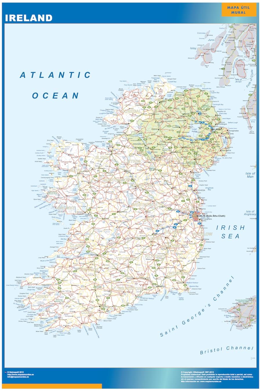 mapa magnético irlanda