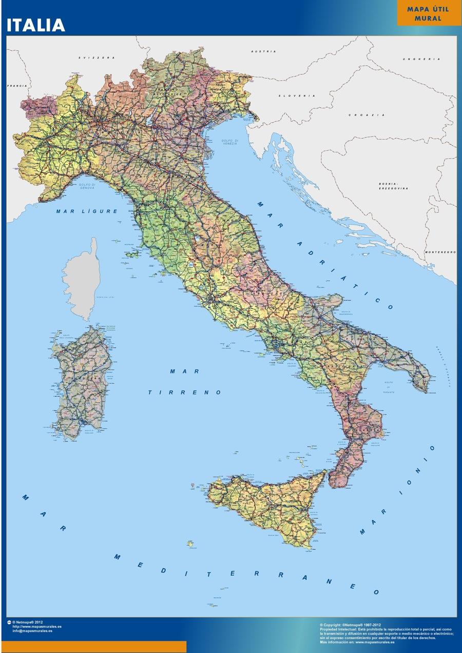 mapa magnético italia