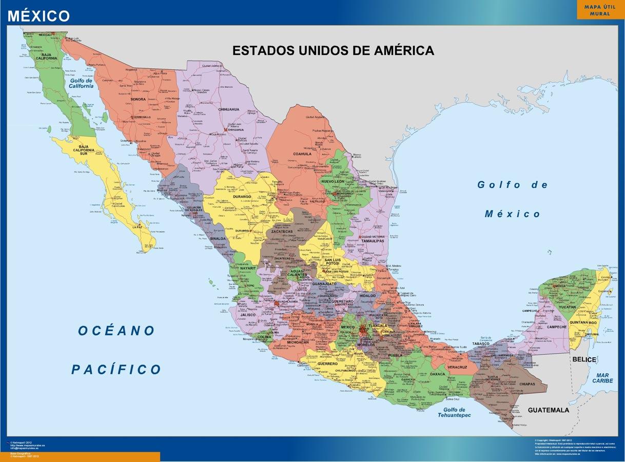 mapa magnético mexico politico
