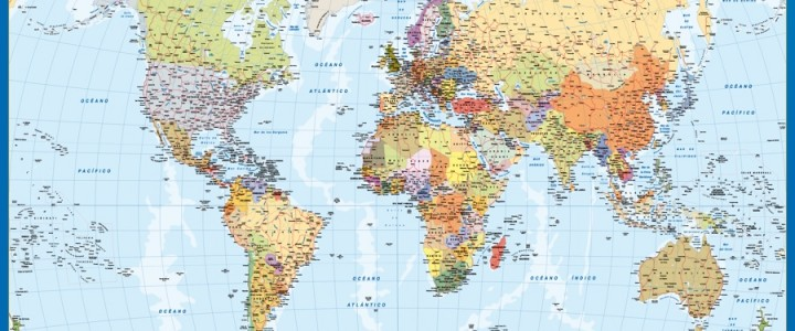 mapa mundo mural magnetico