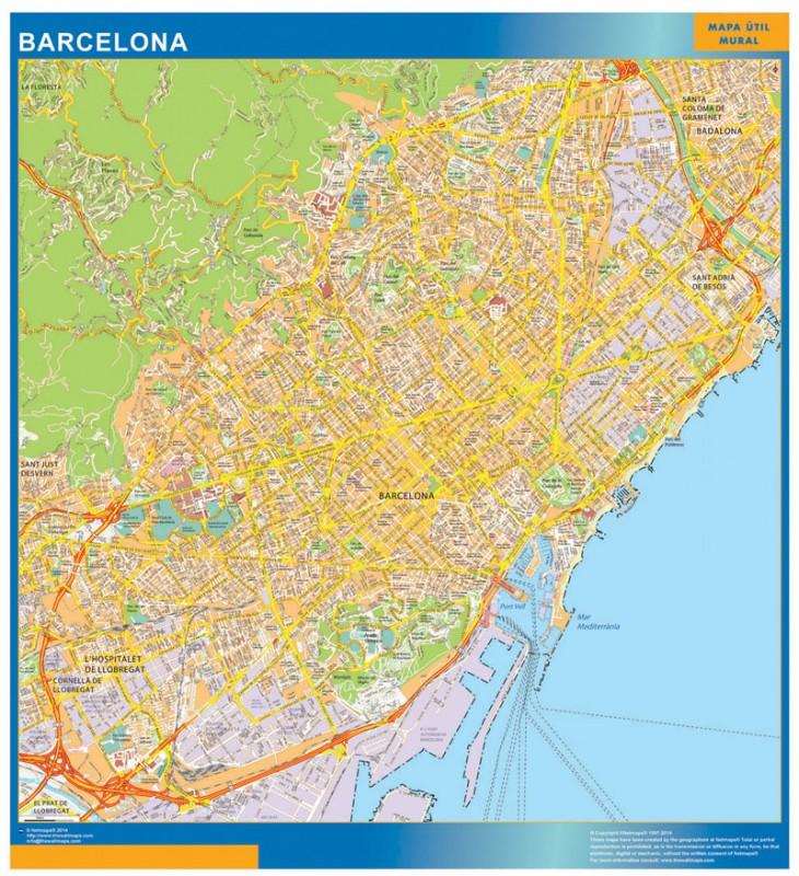 Mapa Magnético Barcelona para imanes