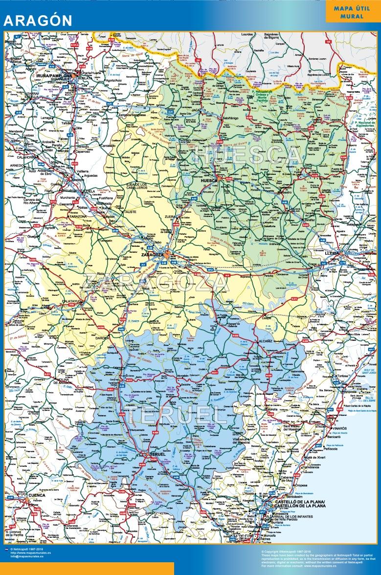 Mapa magnético Aragon