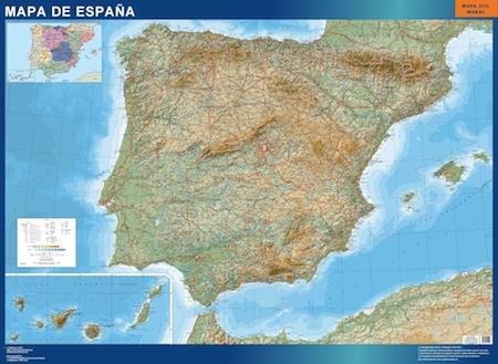Mapa magnetico Espana Relieve